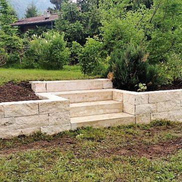 Steinmauer Gartengestaltung Verbundsteine Kogler